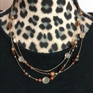 Brown / copper necklace